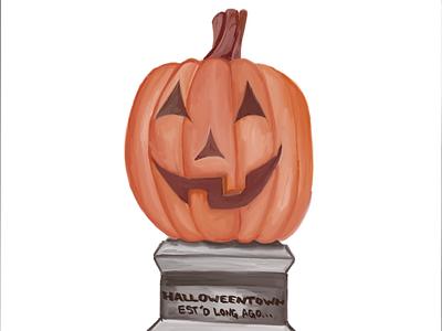 Inktober Day Four: Halloweentown! ipad pro sketchbook inktober st. helen oregon halloweentown