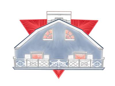 Inktober Day Thirteen: Amityville House amityville house ipad pro sketchbook inktober