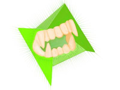 Inktober Day Seventeen: Vampire Teeth vampire teeth ipad pro sketchbook inktober