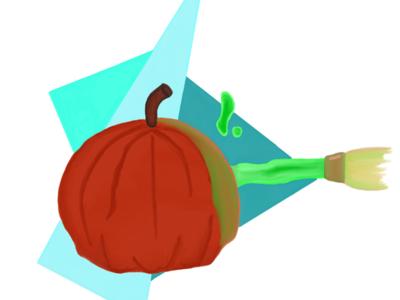 Inktober Day Twenty Three: Stitch carves his Halloween Pumpkin 🎃