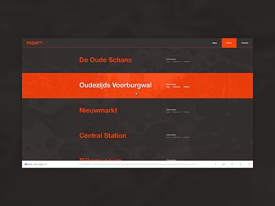 Personal portfolio webdesign portfolio personal web layout minimal website simple clean orange graphite web design