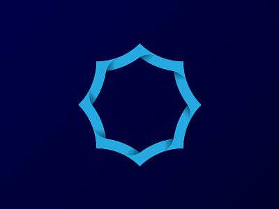 Umbrella Emblem emblem logo umbrella blue gradient geometry identity corporate id branding navy blue