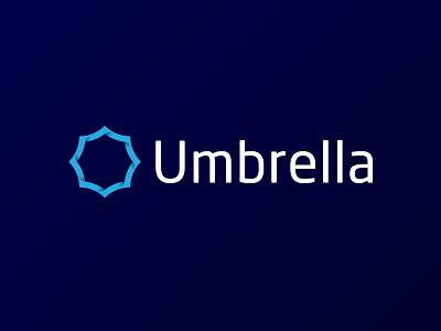 Umbrella Logotype blue branding logo logotype corporate geometry gradient id identity umbrella navy blue