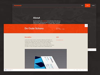 Personal portfolio update website web design web clean graphite layout minimal orange personal portfolio simple bold