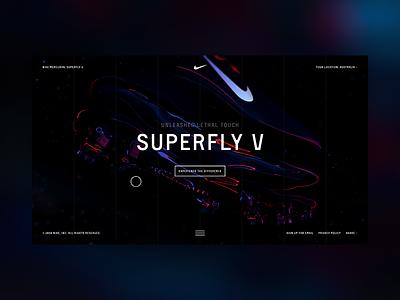 Nike Mercurial layout interaction dark design website web kicks shoes football soccer nike