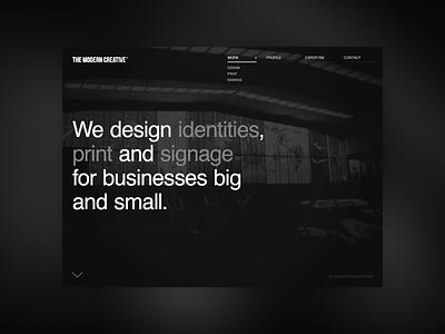 TMC Website grey site interface ui dark white black design web website