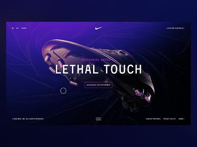 Nike Mercurial v02 website web world cup shoes nike soccer interaction football design dark