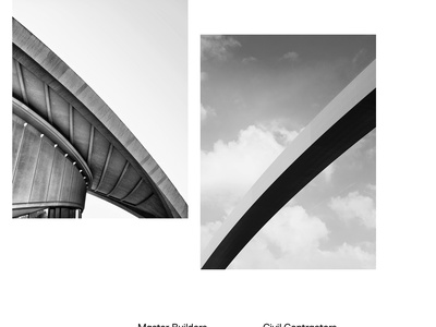 Acclaim Contractors acclaim white black website web ui interface development corporate construction building