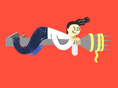 Pasta editorial illustration illustraion digitalart