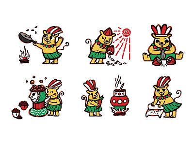 Aztec cocoa illustraion digitalart chocolate cocoa illustration childrenbookillustration childrenbook