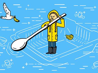 Greta digitalart editorial illustration illustration