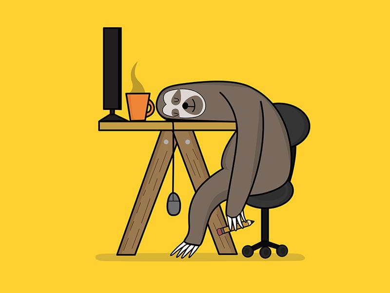 Office sloth digitalart illustration art illustrator sloth