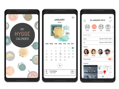 Hygge App design