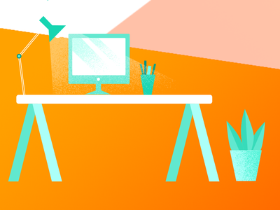 Desk office work desk design vector illustrator photoshop illustraion ui