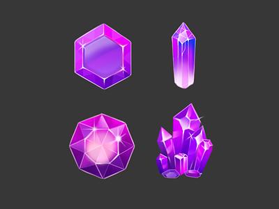 Crystals photoshop digitalillustration illustraion game gameart ui crystal