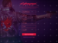 Sign Up Page for game Cyberpunk 2077| Daily UI 001