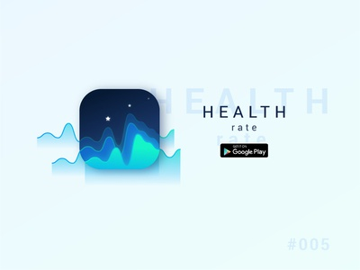 "Daily UI - 005 - ""Health rate"" App icon"