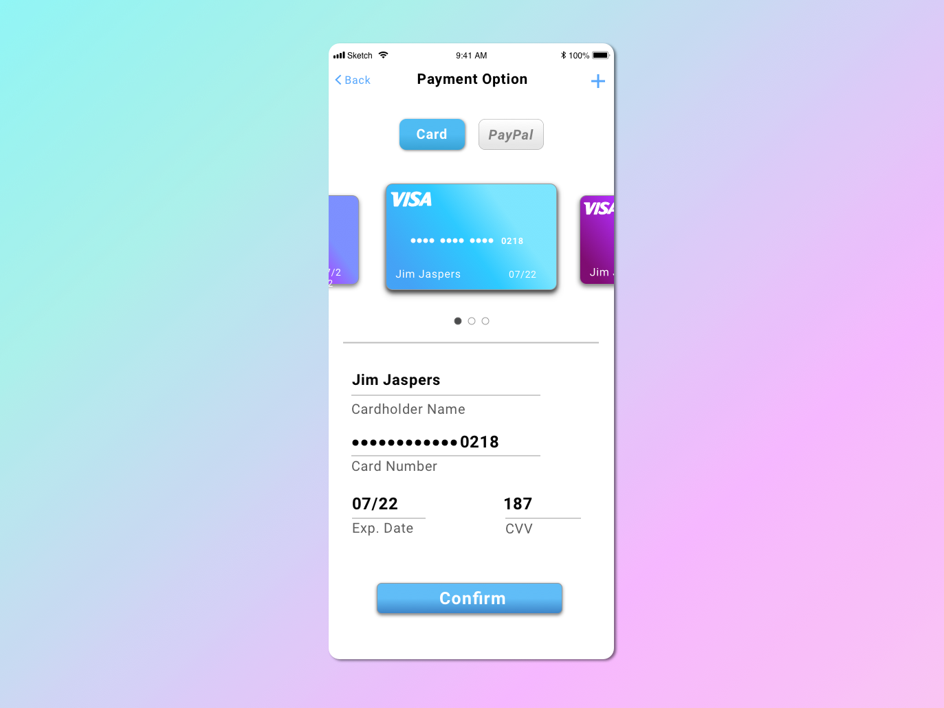 Daily UI 002 credit card credit card checkout ux ui sketchapp sketch mobile design mobile ui daily ui challenge daily ui 002