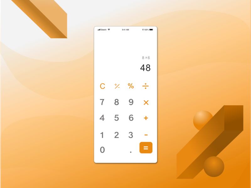 Daily UI 004 calculator ui calculator daily ui 004 app design ui ux daily ui design sketch daily 100 challenge