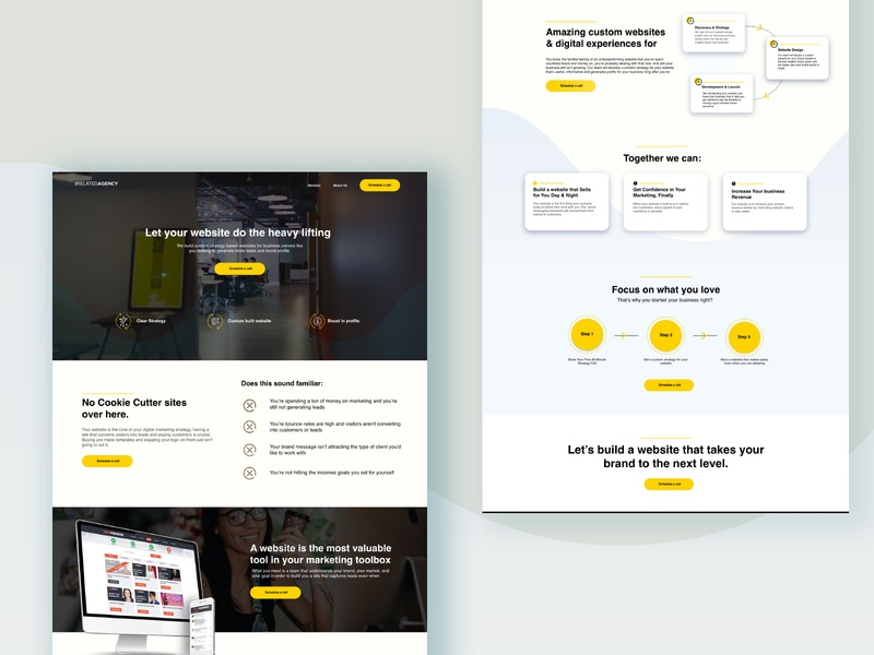 Agency Website - Home Page Design
