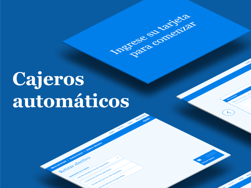 Cajeros automáticos para adultes mayores app wireframe information architecture accesibility elderly atm human centered design user research design ux