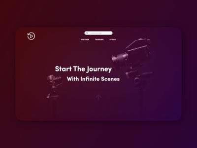 Streaming landing page