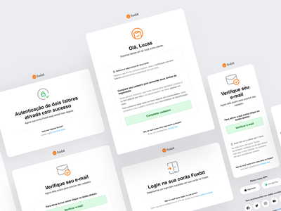 Transactional emails template product template email template responsive foxbit foxbit crypto branding visual identity ui email design newsletter transactional email
