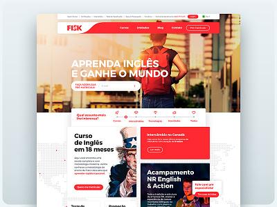 Fisk Website - Home made with invision school language english sketch color desktop web home website ux ui