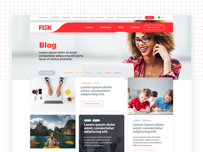 Blog page - Fisk Website user language school english sketch color desktop web website ux ui blog