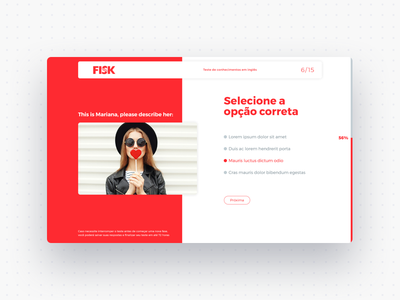 Classification test - Fisk Website app test exam desktop sketch english school language ui ux website web