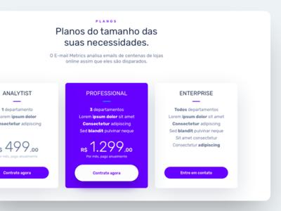 Pricing table | Desktop