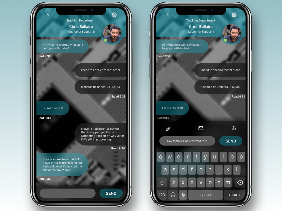Daily UI 013: Direct Messaging Chatbox iphone x iphone send customer service chat bubbles chat chat box branding ui ux design dailyui sketch