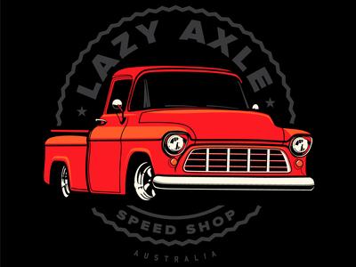 Lazy Axle Speed Shop Logo Design
