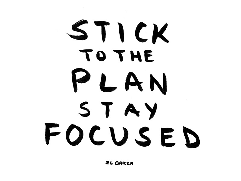 stay focused illustration by jon garza dribbble dribbble