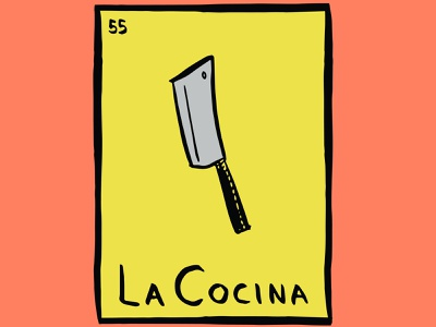 La Cocina Illustrations chicano cooking mexicanfood loteria illustration design foodtruck