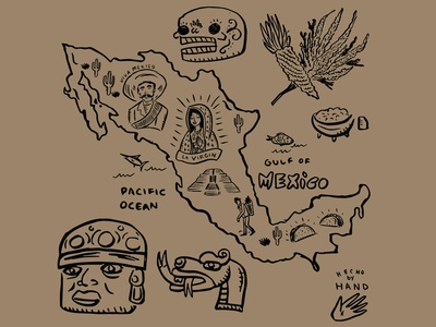 Map of Mexico Illustration