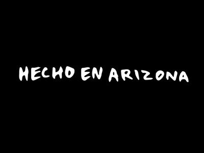 Hecho En Arizona Barber Lettering