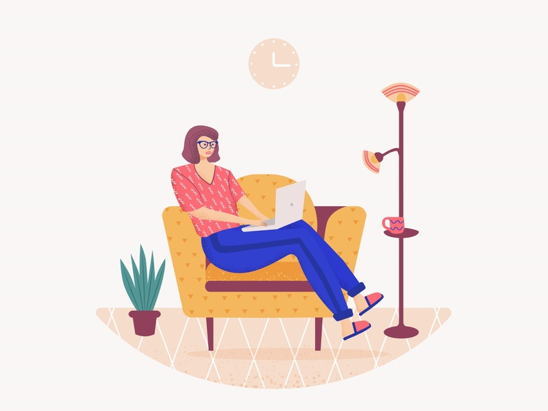 Work from home work from home workplace quarantine study freedom network lifestyle laptop vector flat cartoons illustration character freelancer working from home working