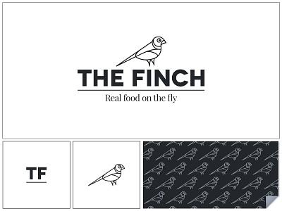 The Finch bird identity logo