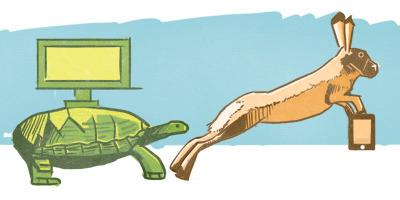 Desktop Tortoise, Mobile Hare