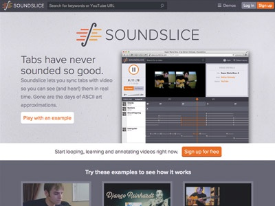Soundslice homepage