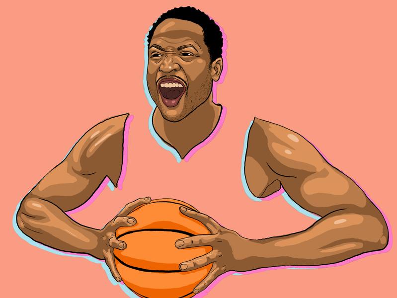 Dwayne Wade design procreate illustration drawing digital illustration