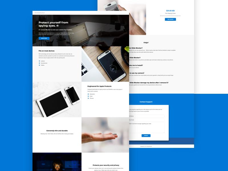 Camera Blocker Web Design shop e-commerce user interface ui artist uidesign block cam web design website kid branding web design