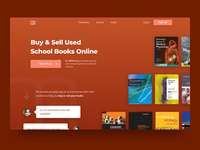 Header Design for School Books Marketplace