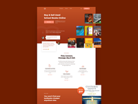 School Books Homepage Web Design