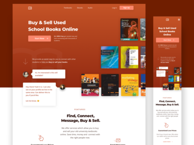 School Books Mobile Responsive Design