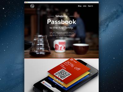 Kiip Passbook Website cover website web homepage teaser passbook html iphone proxima nova layout kiip photo mobile