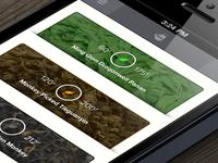 Tea App iPhone Main Screen