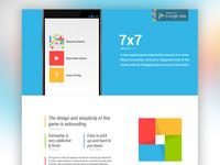 7x7 App Website Concept 2
