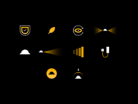 Custom Icons for Illumagear! darkness illuminate illumination battery construction feather icons icon hat light